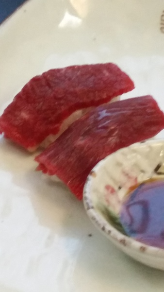 Beef sushi